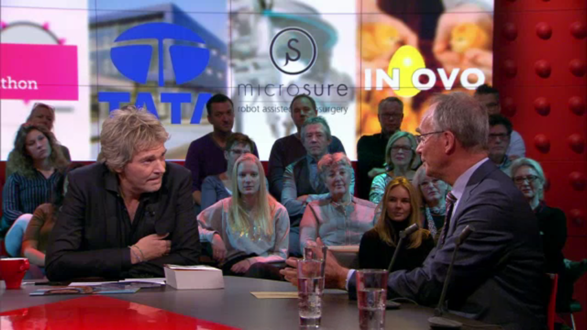 Minister Henk Kamp in DWDD - National Icon 2016
